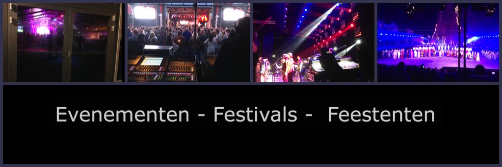 Evenementen - Festivals - Feesttenten